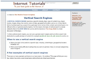 http://www.internettutorials.net/vertical-search.asp