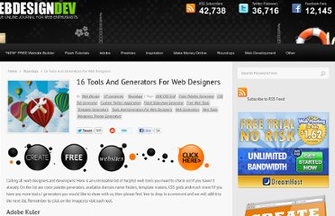 http://www.webdesigndev.com/roundups/16-tools-and-generators-for-web-designers