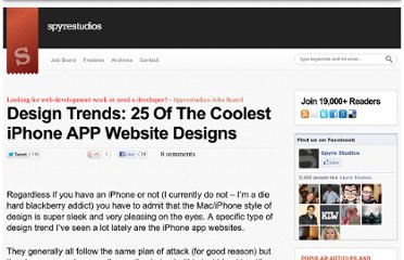 http://spyrestudios.com/design-trends-25-coolest-iphone-app-web-designs/