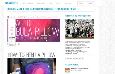 http://blog.whimseybox.com/how-to-make-a-nebula-pillow-using-ink-effects-from-decoart
