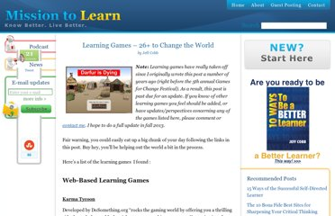 http://www.missiontolearn.com/2008/04/learning-games-for-change/