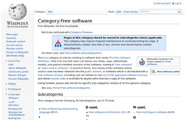 http://en.wikipedia.org/wiki/Category:Free_software