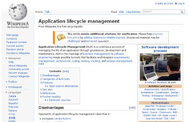 http://en.wikipedia.org/wiki/Application_lifecycle_management
