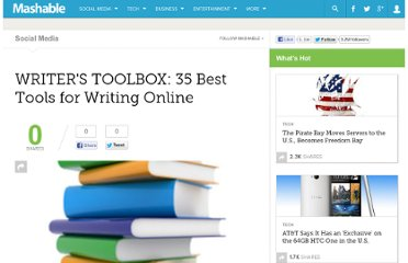 http://mashable.com/2008/12/13/writers-toolbox/