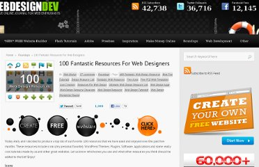 http://www.webdesigndev.com/roundups/100-fantastic-resources-for-web-designers