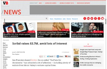 http://venturebeat.com/2007/06/05/scribd-raises-37m-amid-lots-of-interest/