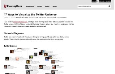 http://flowingdata.com/2008/03/12/17-ways-to-visualize-the-twitter-universe/