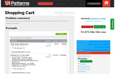 http://ui-patterns.com/patterns/ShoppingCart