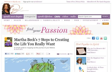 http://www.oprah.com/spirit/How-to-Live-the-Life-You-Want-Charting-Your-Life