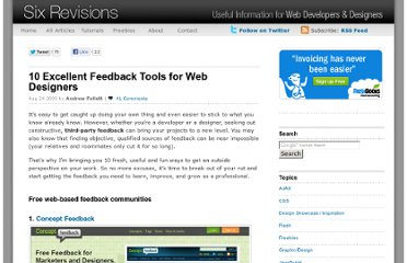 http://sixrevisions.com/tools/10-excellent-feedback-tools-for-web-designers/