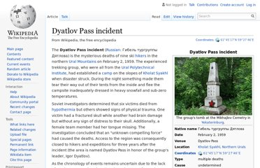 http://en.wikipedia.org/wiki/Dyatlov_Pass_incident