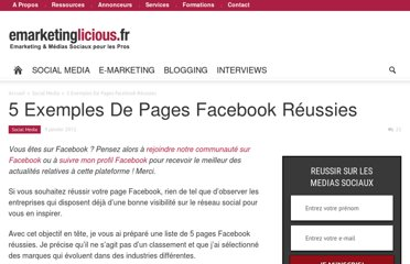 http://www.emarketinglicious.fr/social-media/5-exemples-de-pages-facebook-reussies