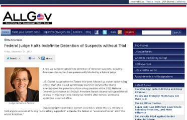 http://www.allgov.com/news/top-stories/federal-judge-halts-indefinite-detention-of-suspects-without-trial-120914?news=845312