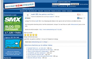 http://www.secrets2moteurs.com/audit-seo-les-points-a-verifier.html