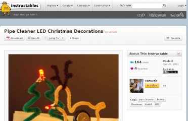 http://www.instructables.com/id/Pipe-Cleaner-LED-Christmas-Decorations/