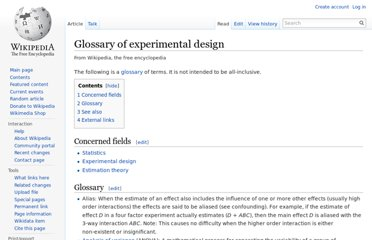 http://en.wikipedia.org/wiki/Glossary_of_experimental_design
