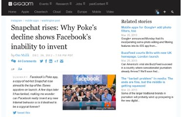 http://gigaom.com/2012/12/26/snapchat-rises-why-pokes-decline-shows-facebooks-inability-to-invent/