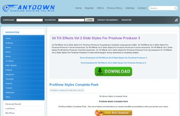 http://www.anydl.net/dl/3D-Tilt-Effects-Vol-2-Slide-Styles-for-ProShow-Producer-5.html