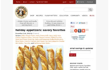 http://www.kingarthurflour.com/blog/2012/12/21/holiday-appetizers-savory-favorites/