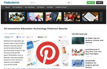 http://edudemic.com/2012/12/education-technology-pinterest-boards/
