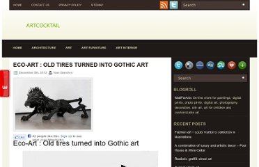 http://artcocktail.mallforarts.com/2012/12/eco-art-old-tires-turned-into-gothic-art/
