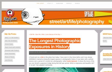 http://itchyi.squarespace.com/thelatest/2010/7/20/the-longest-photographic-exposures-in-history.html