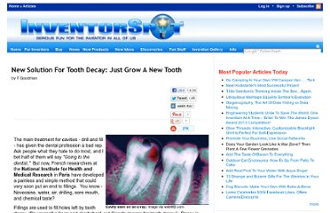 http://inventorspot.com/articles/new_solution_tooth_decay_just_grow_new_tooth