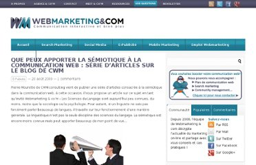 http://www.webmarketing-com.com/2009/08/20/4847-que-peux-apporter-la-semiotique-a-la-communication-web-serie-darticles-sur-le-blog-de-cwm
