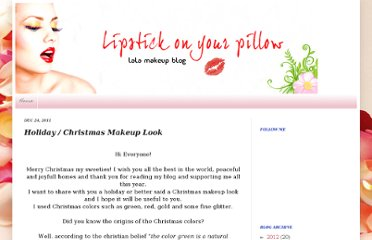 http://lipstickonyourpillow.blogspot.com/2011/12/holiday-christmas-makeup-look.html