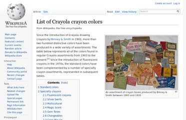 https://en.wikipedia.org/wiki/List_of_Crayola_crayon_colors