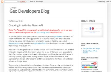 http://googlegeodevelopers.blogspot.com/2010/07/checking-in-with-places-api.html