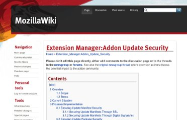https://wiki.mozilla.org/Extension_Manager:Addon_Update_Security