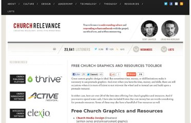 http://churchrelevance.com/free-church-graphics-and-resources-toolbox/