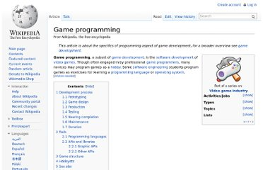 http://en.wikipedia.org/wiki/Game_programming#Programming_languages