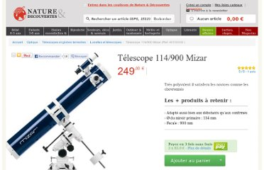 http://www.natureetdecouvertes.com/optique/telescopes-globes-terrestres/astronomie/telescope-114/900-mizar-40116100?source=h12284385212548550#avis