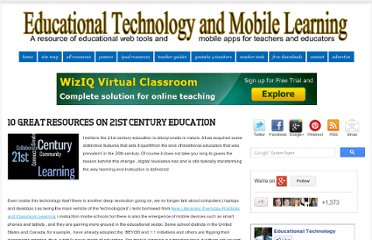 http://www.educatorstechnology.com/2012/12/10-great-resources-on-21st-century.html