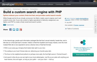http://www.ibm.com/developerworks/library/os-php-sphinxsearch/