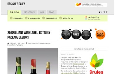 http://www.designer-daily.com/25-brilliant-wine-label-bottle-package-designs-1808