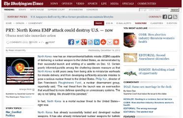 http://www.washingtontimes.com/news/2012/dec/19/north-korea-emp-attack-could-destroy-us-now/