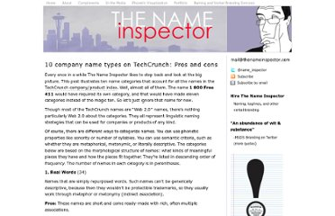 http://www.thenameinspector.com/10-name-types/