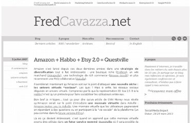 http://www.fredcavazza.net/2007/07/03/amazon-habbo-etsy-20-questville/