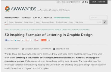 http://www.awwwards.com/30-inspiring-examples-of-lettering-in-graphic-design.html