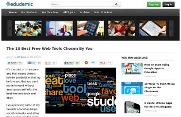 http://edudemic.com/2013/01/the-18-best-free-web-tools-chosen-by-you/