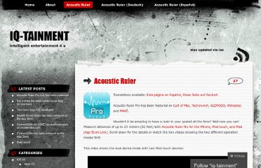 http://iqtainment.wordpress.com/acoustic-ruler/