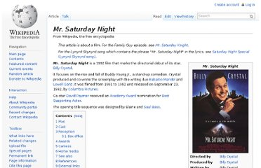 http://en.wikipedia.org/wiki/Mr._Saturday_Night