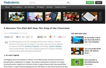 http://edudemic.com/2013/01/ipad-king-of-classroom/