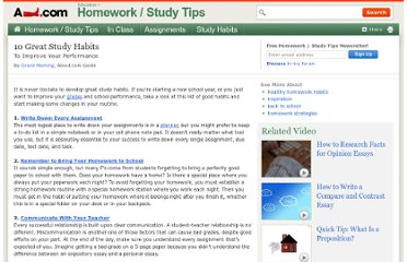 http://homeworktips.about.com/od/studymethods/tp/studyhabits.htm