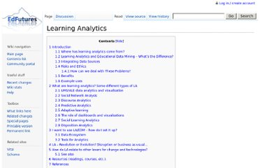 http://edfutures.net/index.php?title=Learning_Analytics