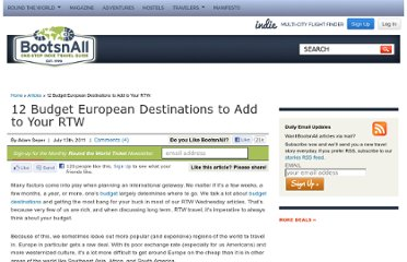 http://www.bootsnall.com/articles/11-07/budget-destinations-to-add-to-your-rtw.html