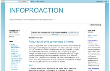 http://infoproaction.blogspot.com/search/label/gouvernance